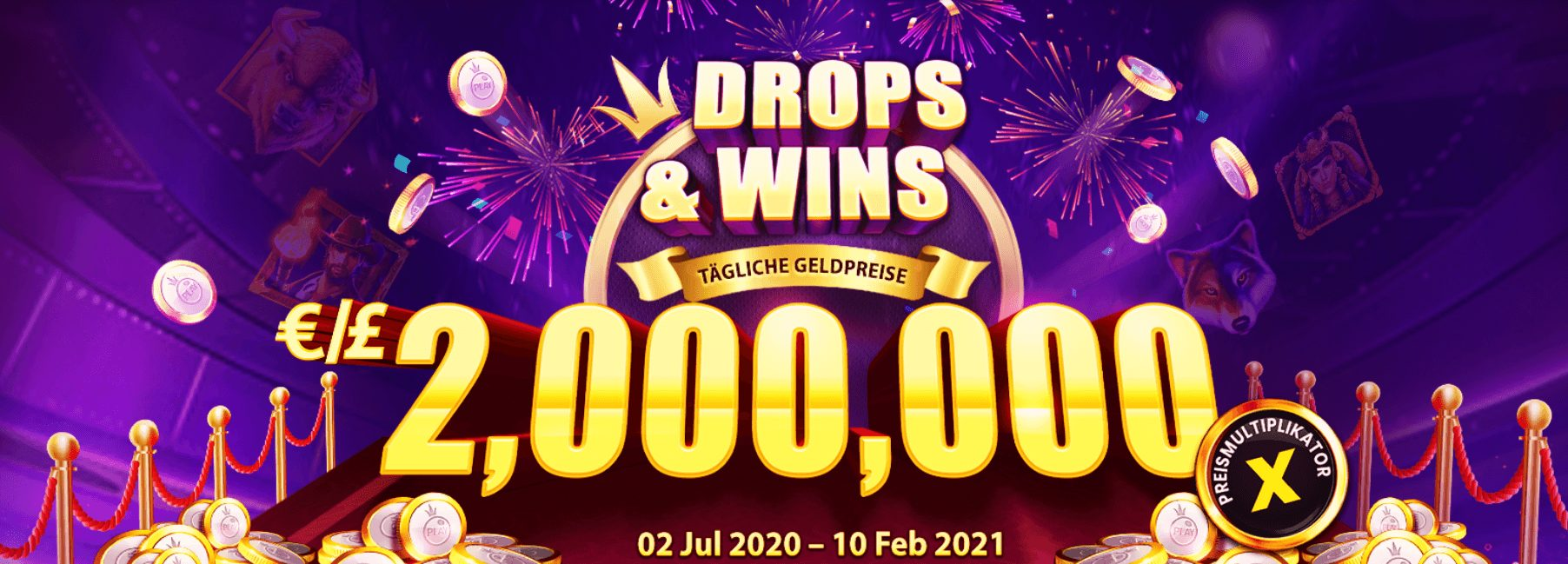 Drops & Wins Aktion von Pragmatic Play Banner